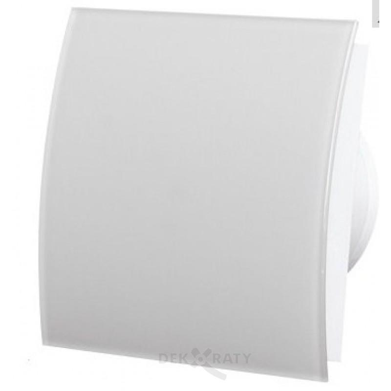 овален стъклен вентилатор в бяло