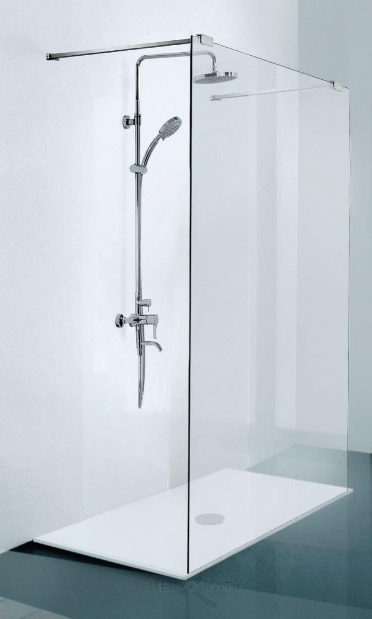 Душ параван за баня с два входа и закалено прозрачно стъкло