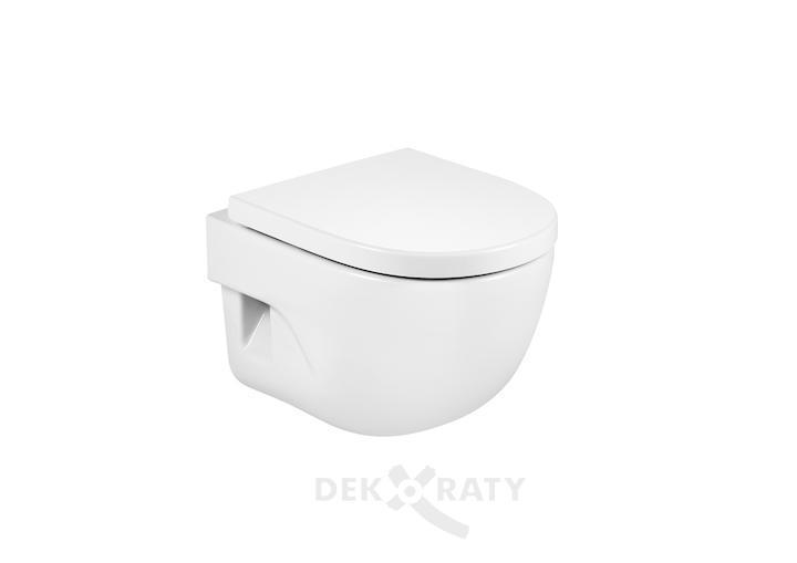 Meridian Компактна порцеланова тоалетна за окачване на стена с хоризонтално оттичане
