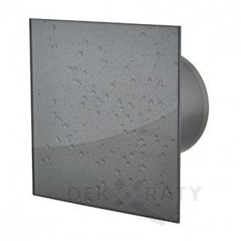 Вентилатор за баня квадрат с клапа- Мокър Асфалт 9517
