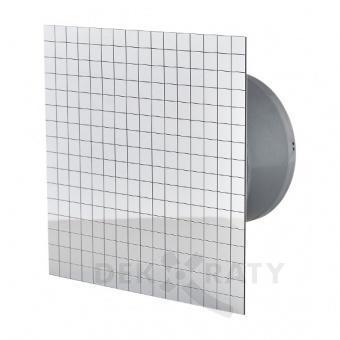 Вентилатор за баня квадрат с клапа- Фолио и Хром 4819