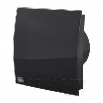 Вентилатор за баня квадрат с клапа- Черен Гланц 4871