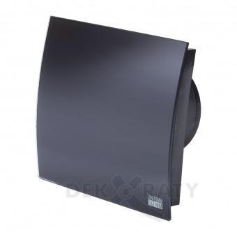 Вентилатор за баня квадрат с клапа- Черен Мат 4888