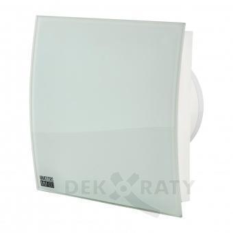 Вентилатор за баня квадрат с клапа-Бял Гланц 4864