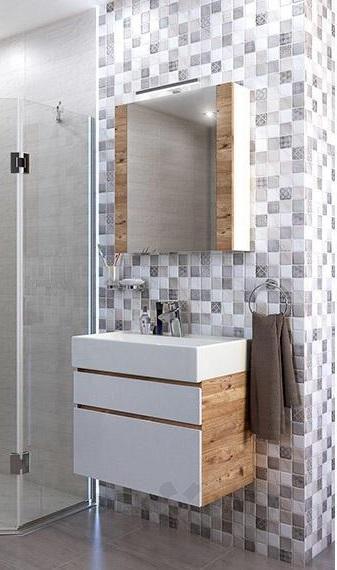 Комплект ПВЦ мебел за баня Хюстън