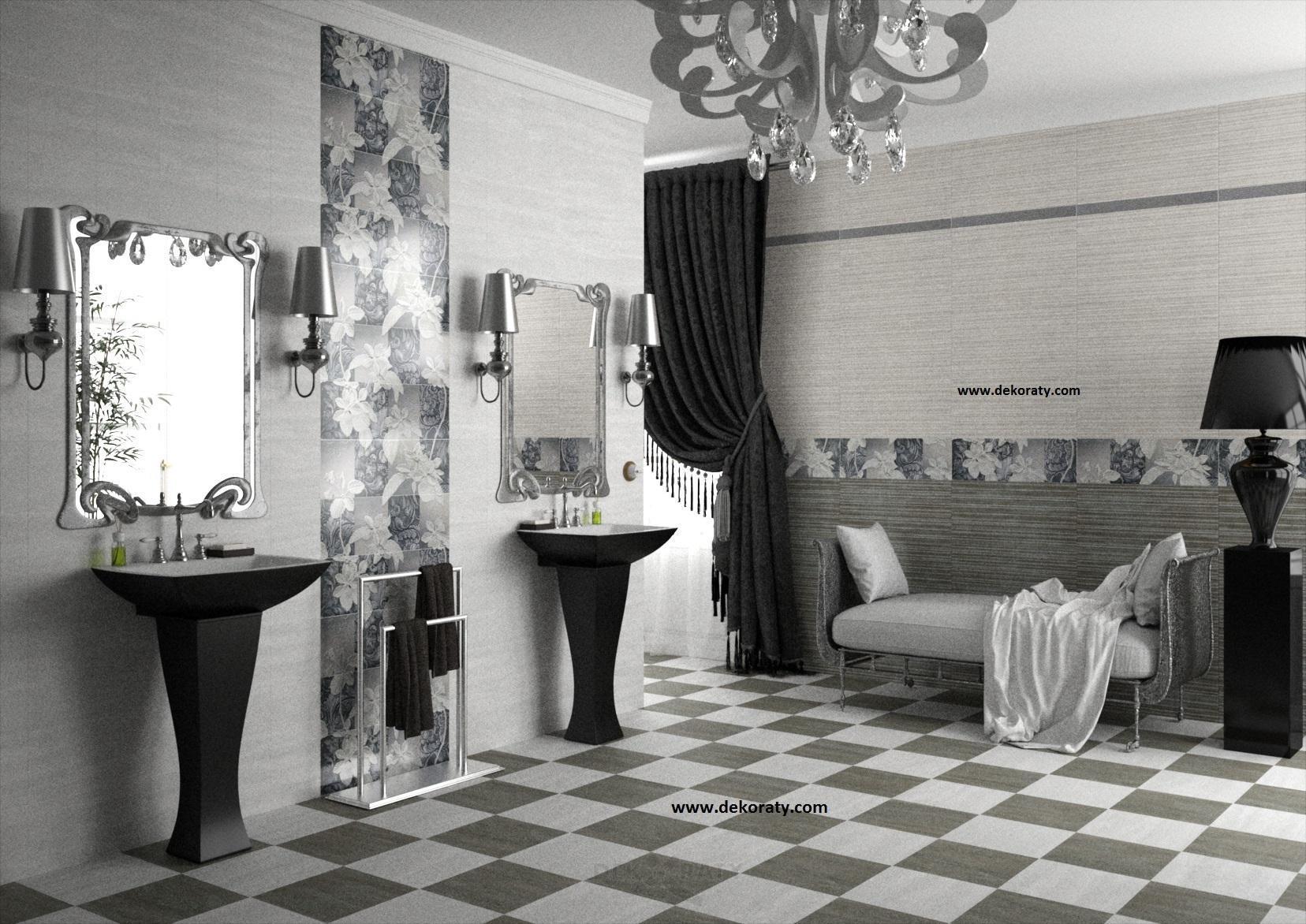 Плочки за баня Habitat perla & grafito