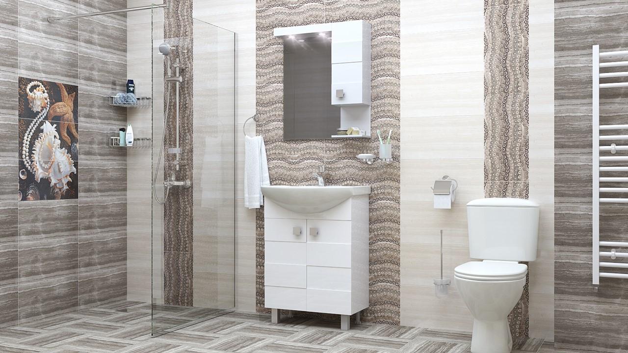 Комплект водоустойчиви мебели за баня Ирина