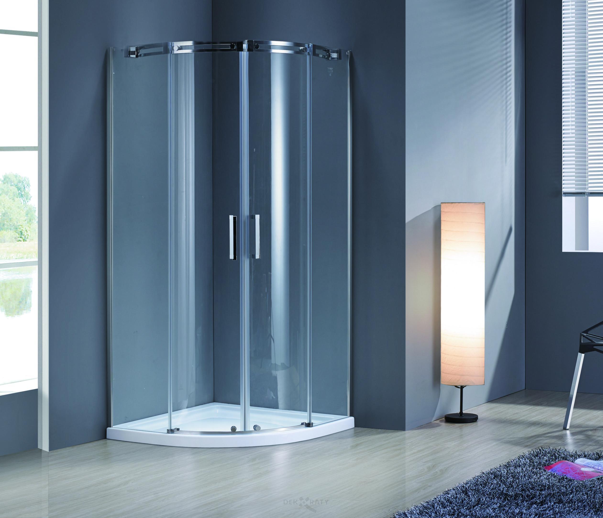 Асимитрична душ кабина за баня Нова 80/100