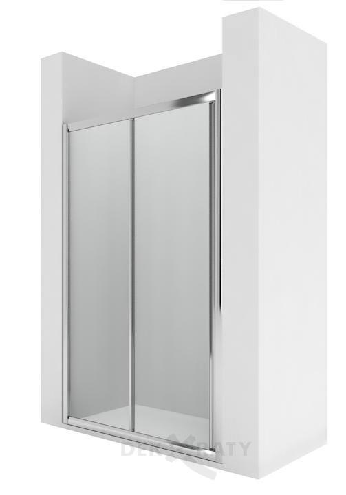 Victoria L2-E - Параван за душ корито с 1 плъзгаща се врата и 1 фиксиран панел за монтаж между стени