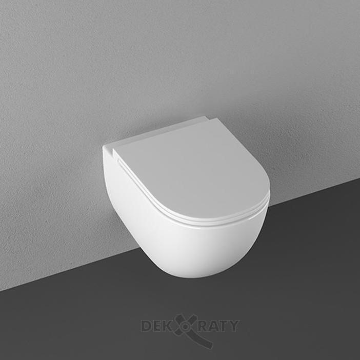 Вива - висяща тоал. чиния с плавно падащ капак