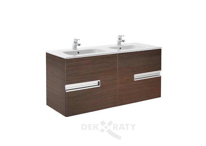 Долен шкаф за баня с двоен умивалник