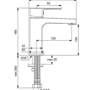 Смесител за умивалник с изпразнител Esla  - BC224AA