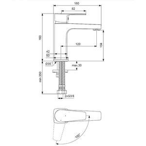Смесител за умивалник със студен старт Esla BC223AA