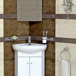 PVC шкаф за баня Торино 55 см.