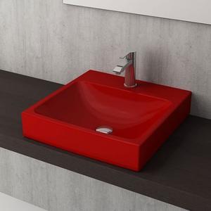 Мивка върху плот Bocchi Scala Arch- червен гланц
