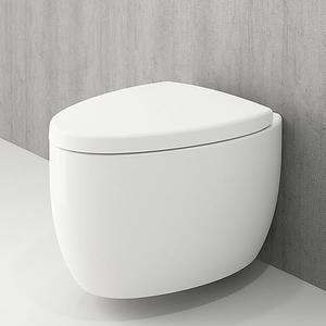 Конзолна тоалетна чиния Etna с бидетна арматура и структура TECE, с бял или хром бутон