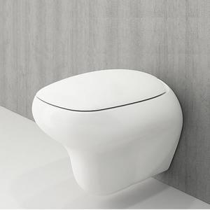 Конзолна тоалетна чиния Fenice с бидетна арматура и структура TECE, с бял или хром бутон