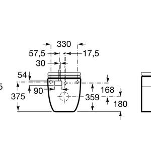 Meridian IN-TANK - Стояща тоалетна чиния с интегриран казан, седалка и капак