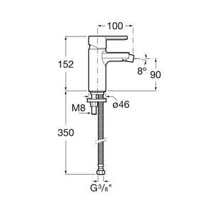 Схема на смесител за биде Naia A5A6A96CN0