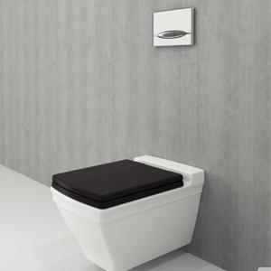Конзолна тоалетна чиния Bocchi Lavita със седалка от дърво, цвят Венге