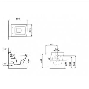 Конзолна тоалетна чиния Bocchi Lavita със седалка Венге