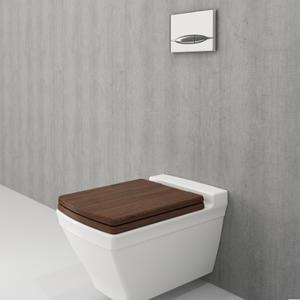 Конзолна тоалетна чиния Bocchi Lavita със седалка от дърво, цвят Орех