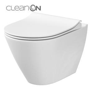 Висяща тоалетна чиния City с технология Clean On