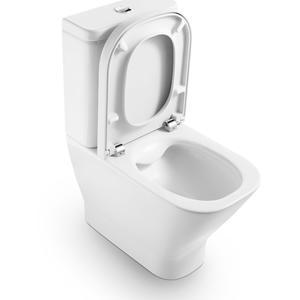 The Gap моноблок с порцеланова компактна тоалетна чиния Rimless с двойно оттичане
