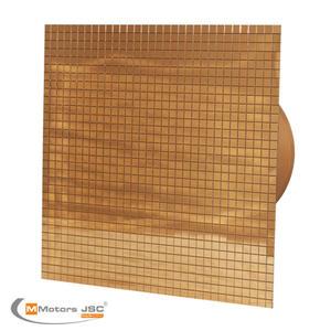 Вентилатор за баня  с декоративна решетка Злато- Метал 4802