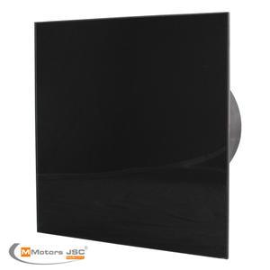 Вентилатор за баня  със стъкло Черен мат 4857
