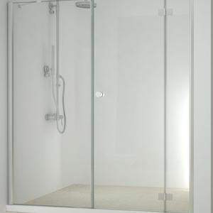 Параван Смарфлекс Сгъваема врата+ Стационарно стъкло- 155см.