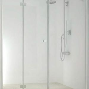Параван Смарфлекс Сгъваема врата+ Стационарно стъкло- 175см.