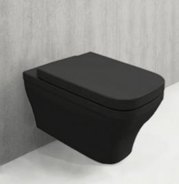 Конзолна тоалетна чиния Bocchi Firenze Rimless черен гланц