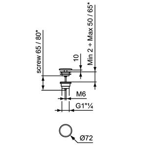 Схема на изпразнител за мивка без преливник E2114