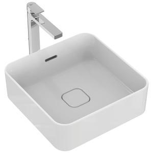Квадратна мивка за монтаж върху плот  40 см. STRADA II T2963