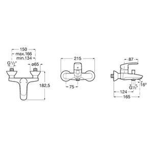 Схема на смесител за вана/душ Monodin A5A0298C00