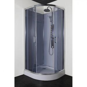 Овална душ кабина с гръб, без таван РС90