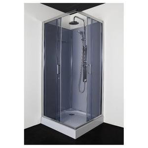 Квадратна душ кабина с гръб, без таван РС91