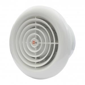 Вентилатор за баня кръгъл с клапа Бял 1030