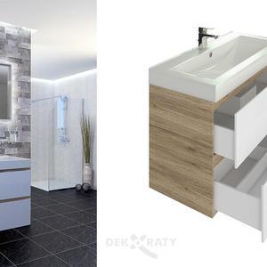 Комплект ПВЦ за баня - шкаф и огледало Бостън