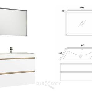 Схема с размери за шкаф за баня Бостън