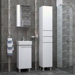 Обзавеждане за баня с ПВЦ шкафове Вега и колона ПВЦ Спарта