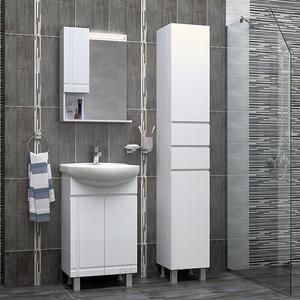 Оборудване за баня с шкафове Ирис и колона Спарта