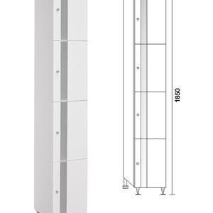 PVC колона за баня Бела