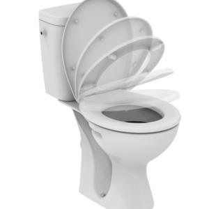 WC комплект, хоризонтално оттичане, седалка с плавно затваряне E405601