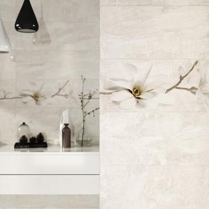Серия плочки за баня Stone Beige