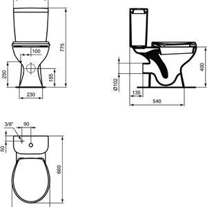 WC комплект  с хоризонтално оттичане SevaFresh  E405701