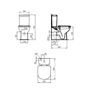 Схема моноблок Tempo Т328101 Ideal Standard