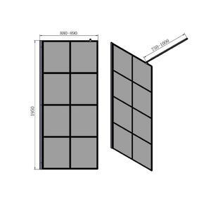 Схема на параван за баня EN9006B