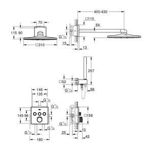 Схема на смесител за вграждане Grohe